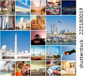 Small photo of Collage of photos from Abu Dhabi. UAE