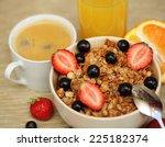 good breakfast for morning  ... | Shutterstock . vector #225182374