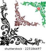 Floral Corner Vector Art Graphics