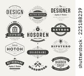 Retro Vintage Insignias or Logotypes set. Vector design elements, business signs, logos, identity, labels, badges and objects.  | Shutterstock vector #225188239