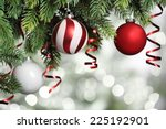 closeup on christmas tree... | Shutterstock . vector #225192901