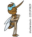 mosquito   colored cartoon... | Shutterstock .eps vector #225195829