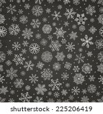 winter snow flakes doodles.... | Shutterstock .eps vector #225206419