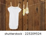 babywear and booties against... | Shutterstock . vector #225209524