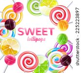 Colorful Lollipops Background....