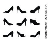 Shoes Silhouettes. Illustration ...