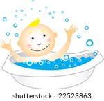 raster child having a bath | Shutterstock . vector #22523863
