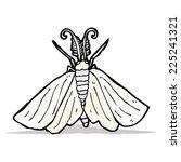 cartoon moth | Shutterstock .eps vector #225241321