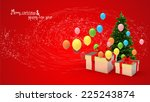 illustration of gift box and... | Shutterstock . vector #225243874