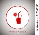 vector glass of juice icons red ...