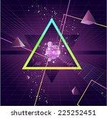triangle pyramid futuristic neo ... | Shutterstock .eps vector #225252451