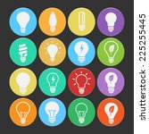 bulb icon set vector. | Shutterstock .eps vector #225255445