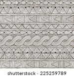 seamless tribal pattern. hand... | Shutterstock .eps vector #225259789