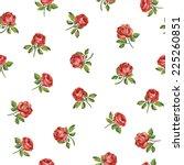 beautiful seamless floral... | Shutterstock .eps vector #225260851