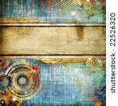 vintage abstraction with place for text - stock photo
