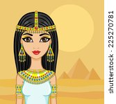 egyptian princess in the desert ...