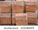 Stacked Red Clay Bricks On...