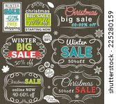 christmas  labels with sale... | Shutterstock .eps vector #225280159
