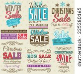 christmas  banners with sale... | Shutterstock .eps vector #225280165