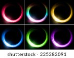 set of glowing rings | Shutterstock . vector #225282091