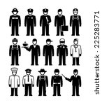 workers professions vector... | Shutterstock .eps vector #225283771