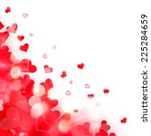 shiny background of red lights... | Shutterstock . vector #225284659