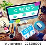 man using digital devices... | Shutterstock . vector #225288001