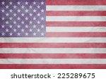 grunge usa flag | Shutterstock . vector #225289675