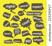 chat  speech icons set  vector | Shutterstock .eps vector #225290917