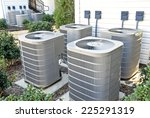 air conditioning units in... | Shutterstock . vector #225291319