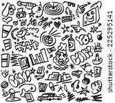 rap music   hip hop symbols  ... | Shutterstock .eps vector #225295141