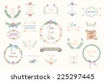floral wedding elements  hand... | Shutterstock .eps vector #225297445