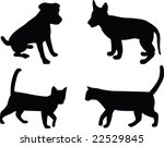 cats and dogs   vector | Shutterstock .eps vector #22529845