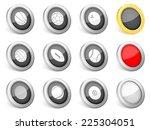 3d icons sport ball on white... | Shutterstock . vector #225304051