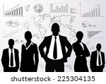 business people group black...