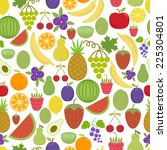 seamless pattern with delicious ... | Shutterstock .eps vector #225304801