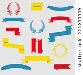 set of retro ribbons and labels.... | Shutterstock .eps vector #225311119