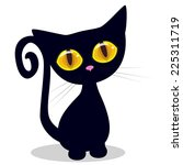 Stock vector cute cat isolated on a white background 225311719