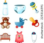 baby elements collection.vector ... | Shutterstock .eps vector #225316591