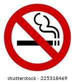 no smoking sign   vector... | Shutterstock .eps vector #225318469
