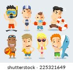 little children  boys and girls ... | Shutterstock .eps vector #225321649