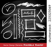 scribble shapes hand drawn in... | Shutterstock .eps vector #225325069