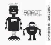 robot design over white... | Shutterstock .eps vector #225328534