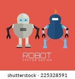 robot design over red... | Shutterstock .eps vector #225328591