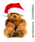 Toy Teddy Bear Wearing A Santa...