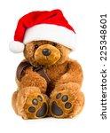 Toy Teddy Bear Wearing A Santa...