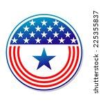 patriotic american stars and... | Shutterstock . vector #225355837