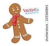 gingerbread man. vector... | Shutterstock .eps vector #225360841