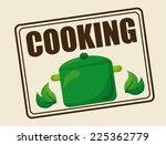 vegan food graphic design  ... | Shutterstock .eps vector #225362779