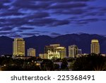 Salt Lake City Utah Skyline At...